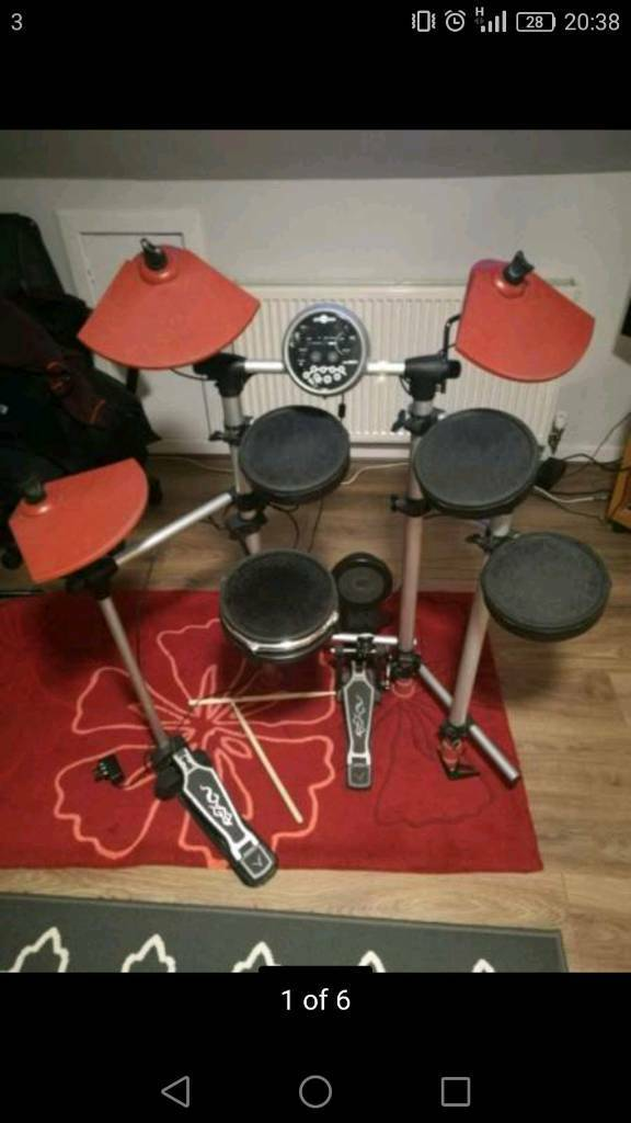DD 501 Digital drum kit, cables and drumsticks | in Dunbar, East Lothian |  Gumtree