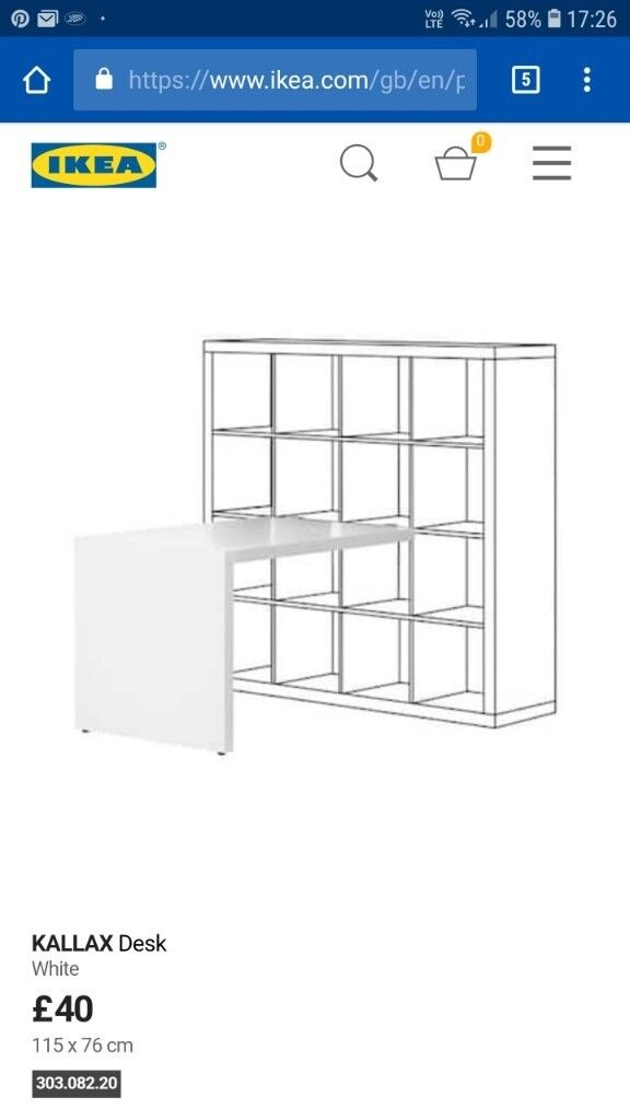 Modern White Bookshelf With Attached Large Desk Removable