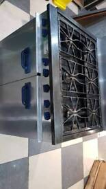 6 burner cooker with oven