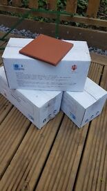 Quarry floor tiles x66 15x15 cm for sales - only £20 for the lot