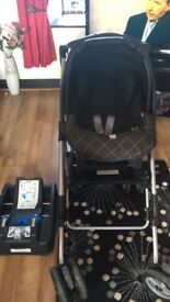 Isofix, baby carrier, stroller and changing bag £30!
