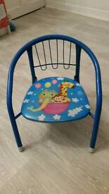 Kid metal chair with sound