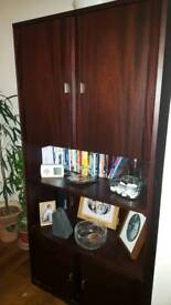 Cocktail cabinet and bookcase for sale