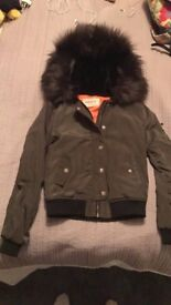 Girls 9-10 years River Island Coat with detachable hood