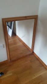Solid pine mirror