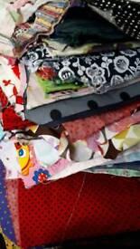 Bundle of cotton fabric remnants