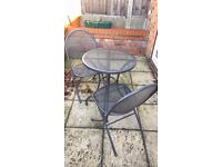 Bistro set win padded cushions