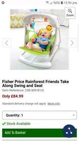 2in1 Fisher Price swing and seat