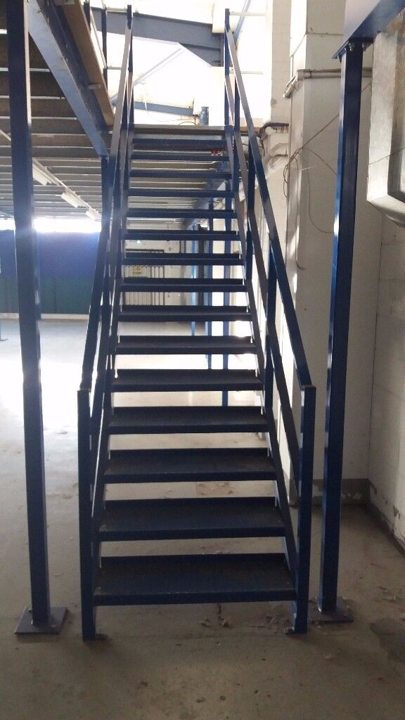 MEZZANINE FLOOR 10M X 5M WITH STAIRS DISMANTLED READY TO GO( STORAGE , PALLET RACKING )