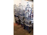Blue metal sack barrow