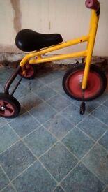 Childrens retro trike bicycle.