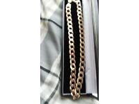 thick gold curb chain 66gram