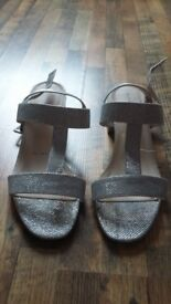 Size 8 silver sandals