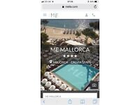 ME Mallorca 3 nights this weekend. Price online is £758. Luxury hotel with beach club.