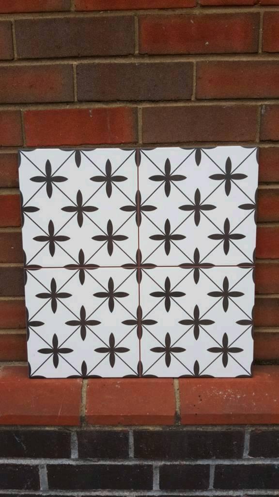 Victorian look poole tiles