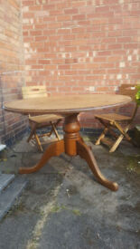 Solid Pine, Large Round Dining Table