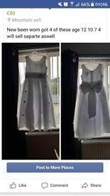 3 flowergirl dresses