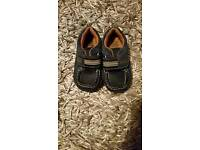 Boys clarkes first shoes size 5 1/2 f