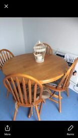 Pine table n 4 chairs