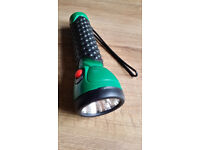 Flashlight black and green, new
