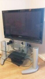 "Panasonic Plasma TV 37"" with stand unit"