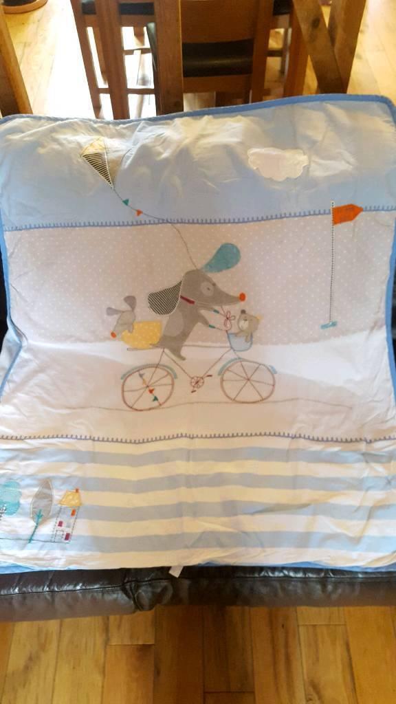 Cot bed bedding