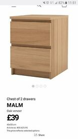 IKEA MALM chest of two drawers** BRAND NEW IN BOX**