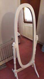 White wooden mirror