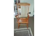 Pine/plywood rocking chair