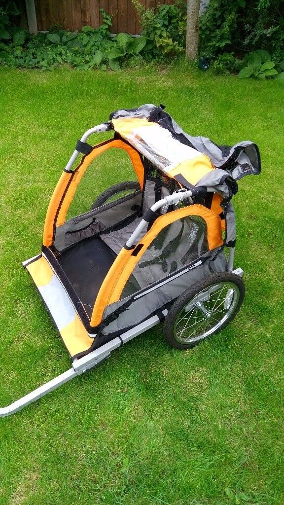 Halfords Double Buggy Child Bike Trailer. Excellent condition.