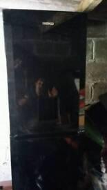 Beko Fridge freezer with drinks dispenser black