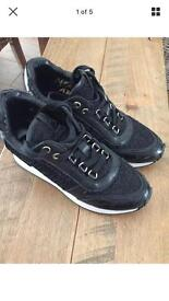 Ladies ash trainers in black size 4