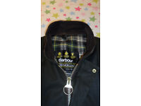 "Mens Barbour Westmoorland Wax Jacket, Size Medium (22"" Pit to pit) Olive, Excellent condition!"