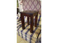 Rustic Solid Oak Side Table