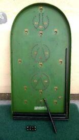 Bagatelle Traditional Pub/Famliy Game, Corinthian 21S Vintage Board Game Antique 1920s-1930s