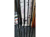 3 x Sonik sks black 3.25tc rods 50mm butt rings