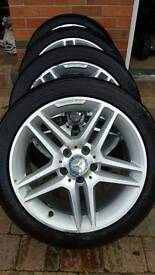 """Genuine Mercedes-Benz (AMG) 17"""" Alloys with tyres"""