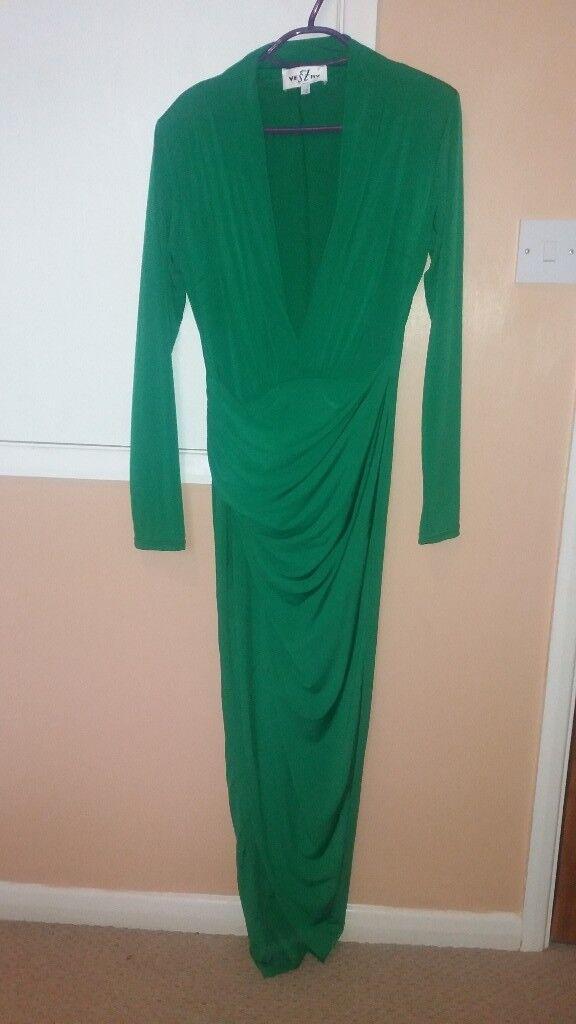 Size 12 long green dress