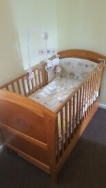 Olive and Henri cot bed + matress + bedding