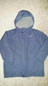 Boys Quicksilver coat £3 size 4yr.