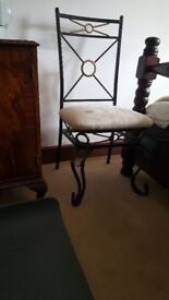 Wrought heavy iron chairs x 4 Good quality