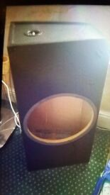 Very cheap Subwoofer enclosure. Collect today cheap