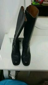 Bronx Women's Black real leather Boots size 7