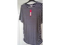 Striped top size 12 - new