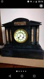 Antique 19th century clock slate and marble