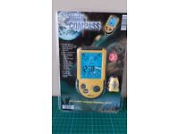 Digital Compass Clock Time Date Day temperature yellow - sealed in original packaging