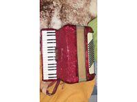 Hohner Arietta accordion 72 bass *****good play..