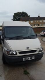 transit crewcab 6 seats, all belts and bulkhead with plyboarding regularly serviced