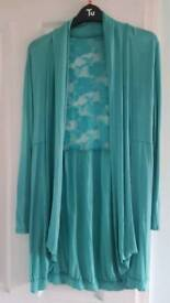 Teal cardigan, Size 12