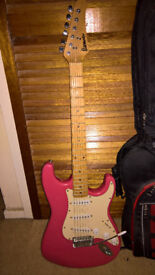 Starmaker electric guitar pink